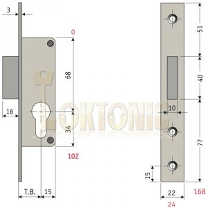 Enfield 35mm Narrow Stile Van Door Shed Gate Garage Mortice Euro Deadlock case