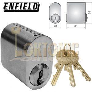 Enfield 5SOE Scandinavian Oval Cylinder Lock Barrels to Suit Assa Ruko Locks