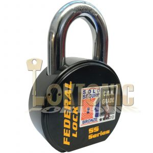 FEDERAL FD900S SOLD SECURE CEN GRADE 3 HEAVY DUTY STEEL PADLOCK
