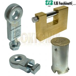 Facchinetti Heavy 90mm Plug Ground Anchor Bolt Lock Unit Roller Shutter Padlock