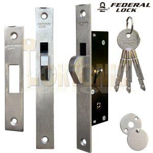 Federal FD-TX190H Narrow Stile Sliding Van Door Hook Bolt Lock Gate Shed UPVc