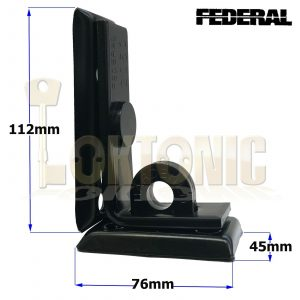 Federal FD2050 High Security Hasp & Staple - Solid Steel 90° right Angle Bend