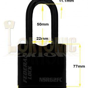 Federal NSR62 Heavy Duty 60mm High Security Combination Van Gate Garage Padlock