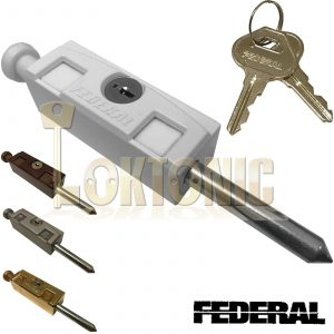 Federal Sliding Multi Purpose Door Window Patio Security Locking Bolt Lock FPB01