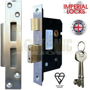 Imperial Lock BS362 British Standard Heavy Duty 5 Lever Mortice Sashlock