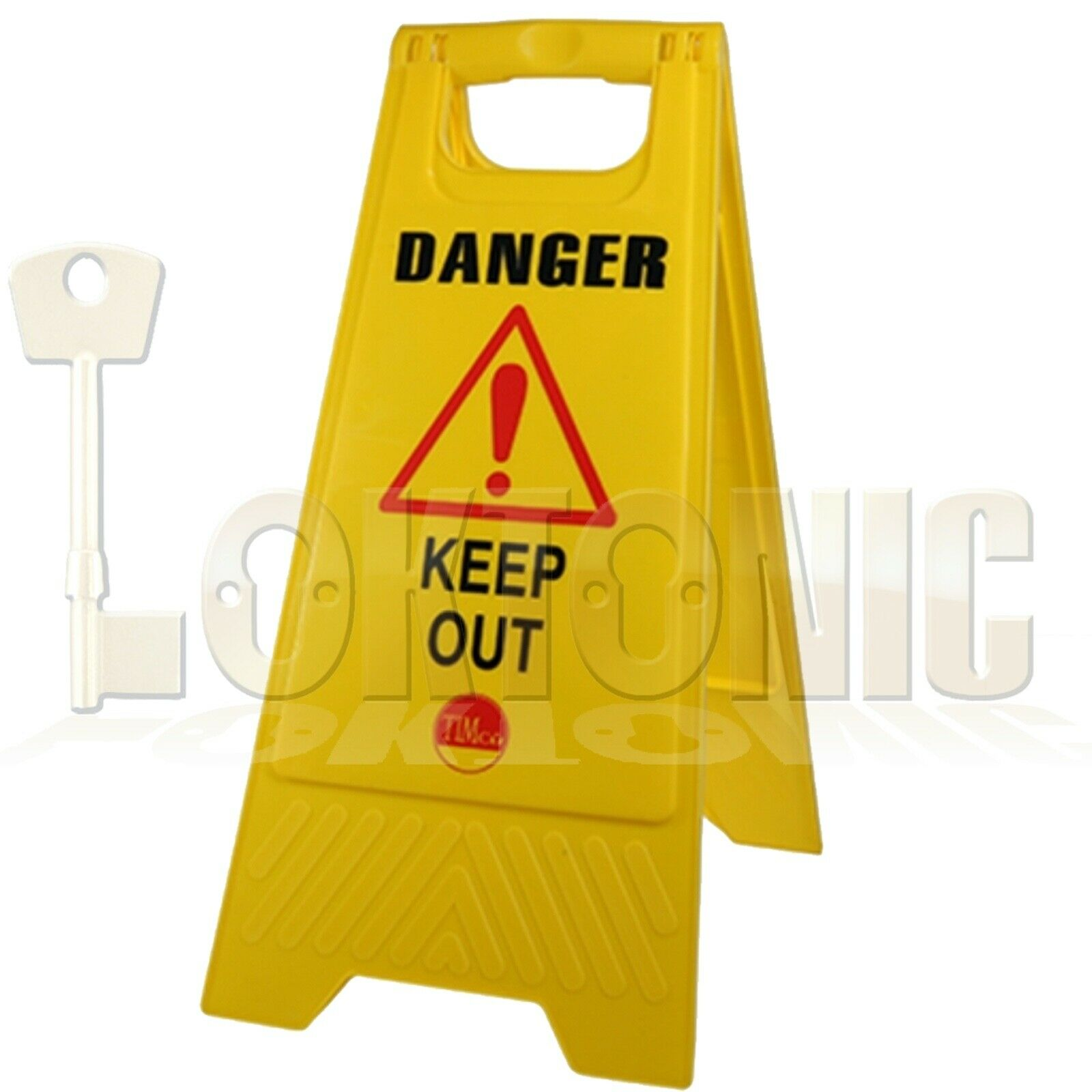 Professional Caution Shield A-Frame Safety Warning Sign Keep Out 610 x 300 x 30