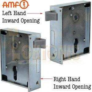 AMF Heavy Duty Rim Lock Inward Opening Wooden Shed Gate Sashlock Made In Germany