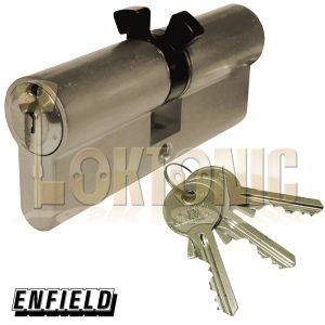 Enfield 35-35mm 363 Mortice Twin Split Cam Euro Double Cylinder Deadlock Barrel