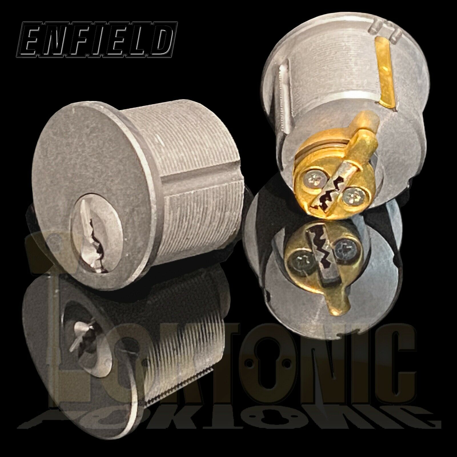 Enfield Screw In Round Mortice Cylinder Lock Barrel Pair