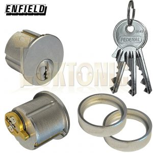 Enfield Screw in Round Mortice Cylinder Lock Barrel Pair to Suit Adams Rite Lock