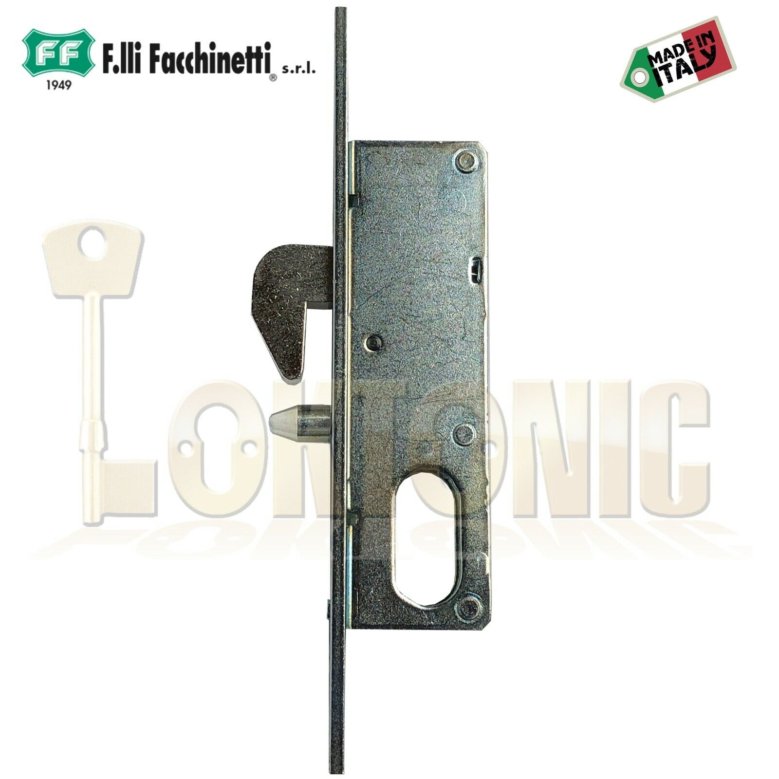 35 mm Narrow HOOK LOCK Sliding Door Gate Van Bolt Euro Cylinder Case Mortice NEW