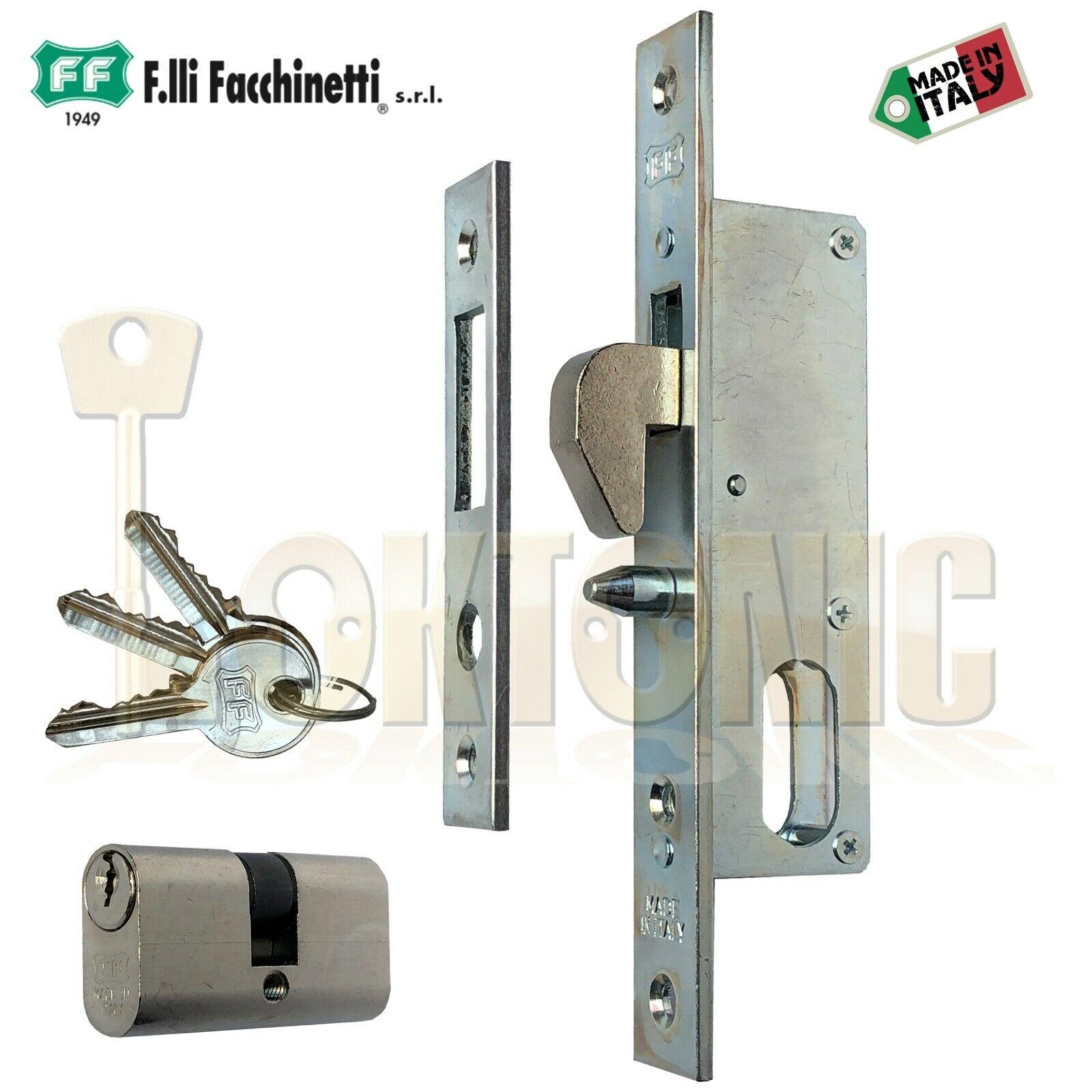 Facchinetti Narrow Stile Small Oval Cylinder Hook bolt Sliding Door Lock
