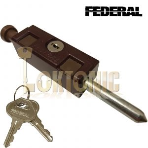 Federal Brown Sliding Multi Purpose Door Window Patio Security Locking Bolt Lock