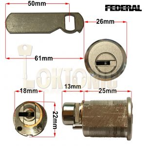 Federal Cam lock Locker Lock Mail Box Furniture Lock Tool Box Post Box Cash Box