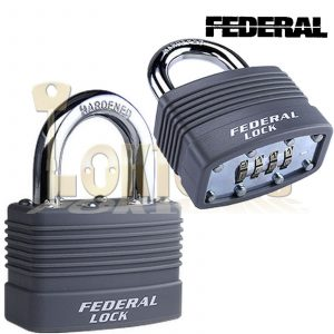 Federal ER46mm Resettable Steel Laminated Combination Padlock Toolbox Cupboard