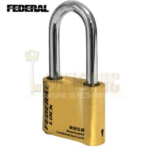 Federal FDRB52 Heavy Duty 51mm High Security Resettable Combination Padlock