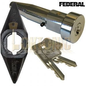 Federal High Security Quality Round Roller Shutter Bullet Lock With Housing