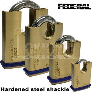 Federal High Security Solid Brass Protected Shoulder Van Gate Shed Padlocks