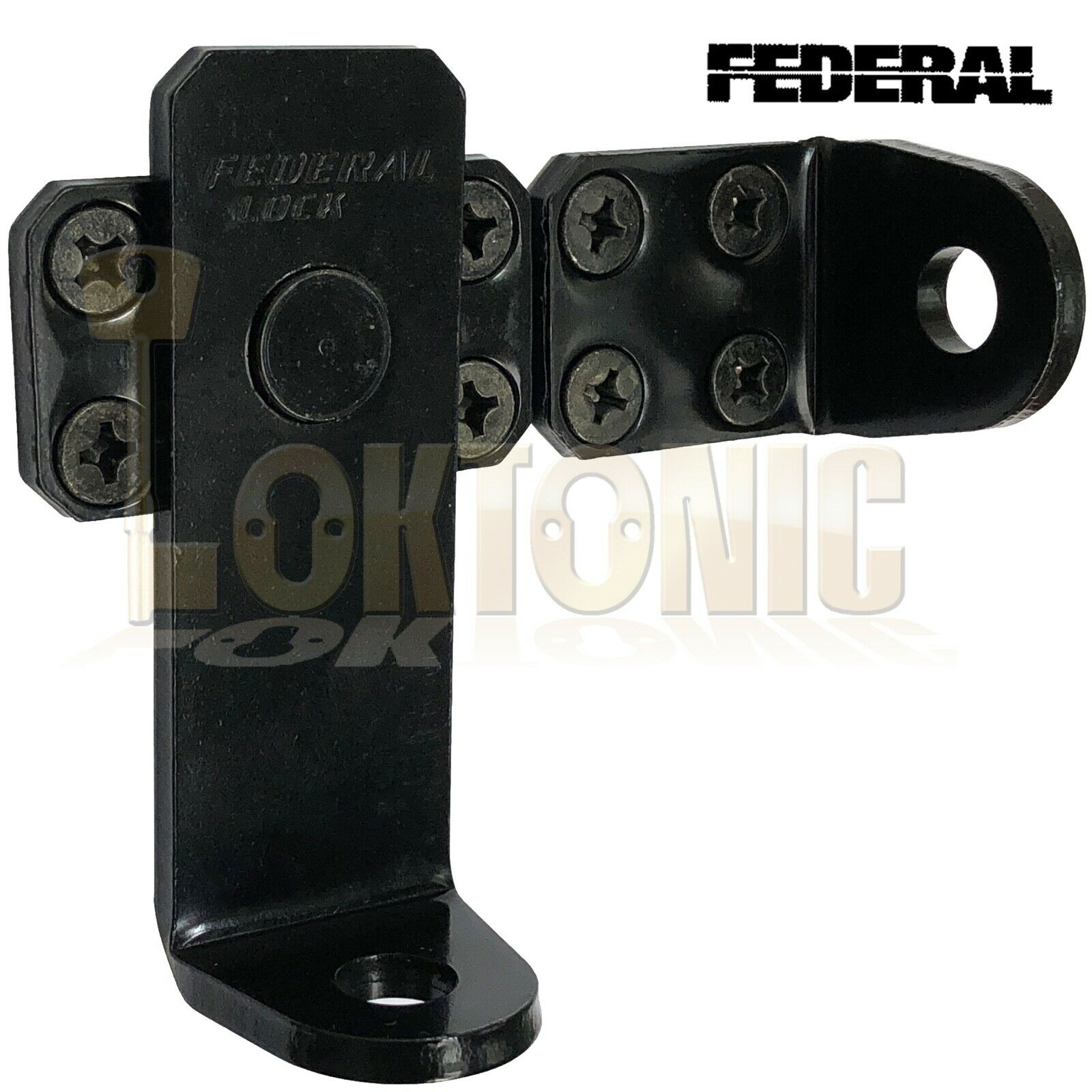 Federal High Security Swing Hasp And Staple  For Garages Gates Sheds