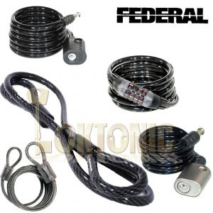 Federal Motorcycle Bicycle Quad Bike High Security Spiral Steel Loop Cable Chain