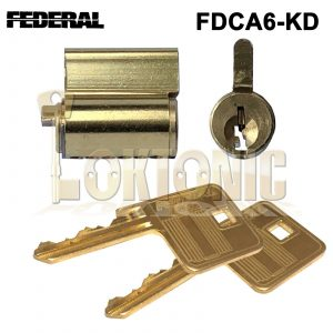Federal Replacement FDCA6-KD Cylinder Core Plug Fit Any 6 pin Federal Padlocks