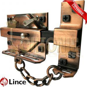 Lince High Security Heavy Rim Duty Gate Shed Garage Sliding Dead Bolt Lock