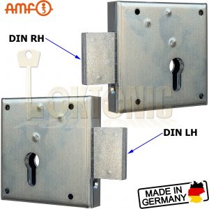 AMF 100Z Steel Double Throw Zinc Plated Heavy Duty Rim Gate Shed Van Deadlock