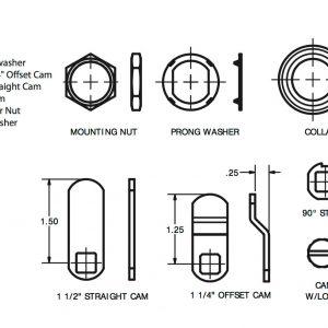 CCL Rotary Dial Digital Combination Cam lock Locker Mail Box Furniture Post Box