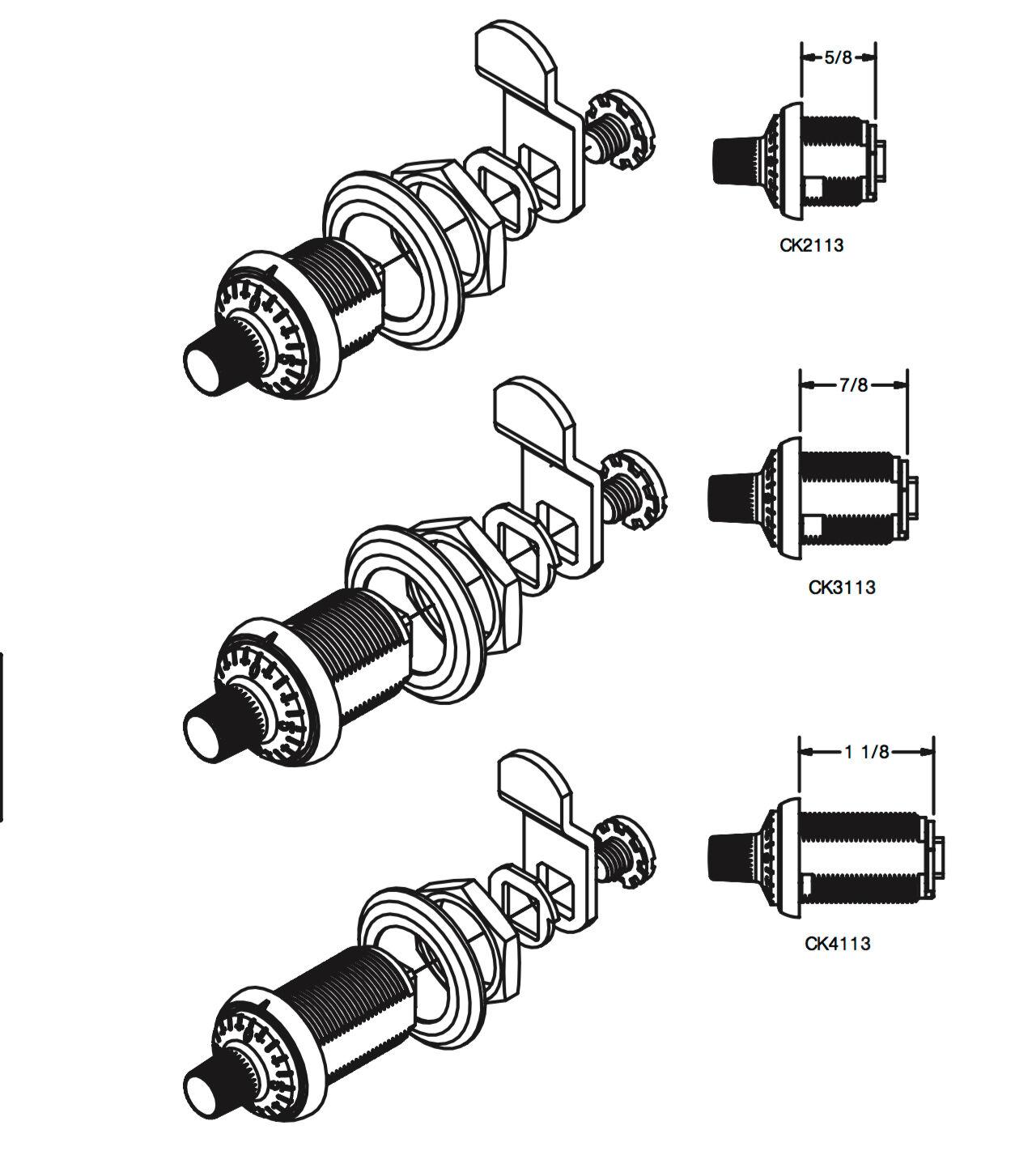 Combination Rotary Dial Digital Cam lock Post Box Lockers Furniture Cabinet