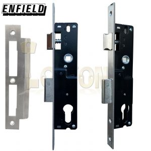 Enfield 25mm Backset Narrow Stile Shed Gate Garage Mortice Euro Sash lock case