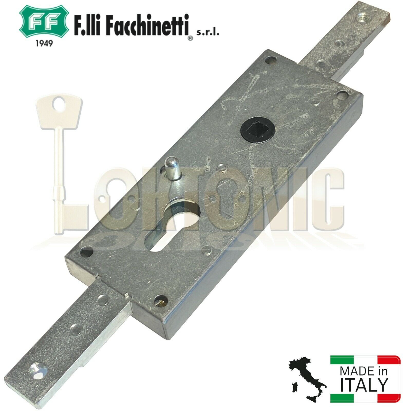 Facchinetti Euro Lockcase Up and Over Garage Door lock Unlock Lever 8mm Spindle