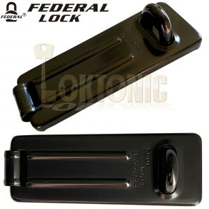 Federal FD1065 Light Security Garage Shed Gate Steel Hasp And Staple
