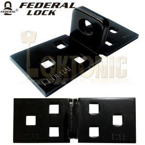 Federal FD3036 High Security Shed Van Gate Garage Solid Steel Lock Bracket Hasp