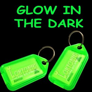 Kevron Genuine Twin Pack  ID43 Glow In The Dark Plastic Clicktag Label Key Tags