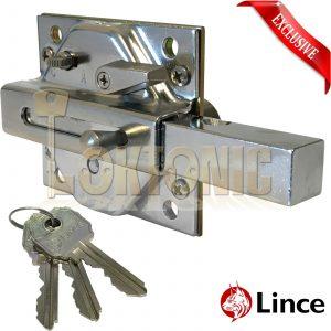 Lince Lock Chrome High Security Heavy Duty Rim Gate Shed Garage Sliding Bolt