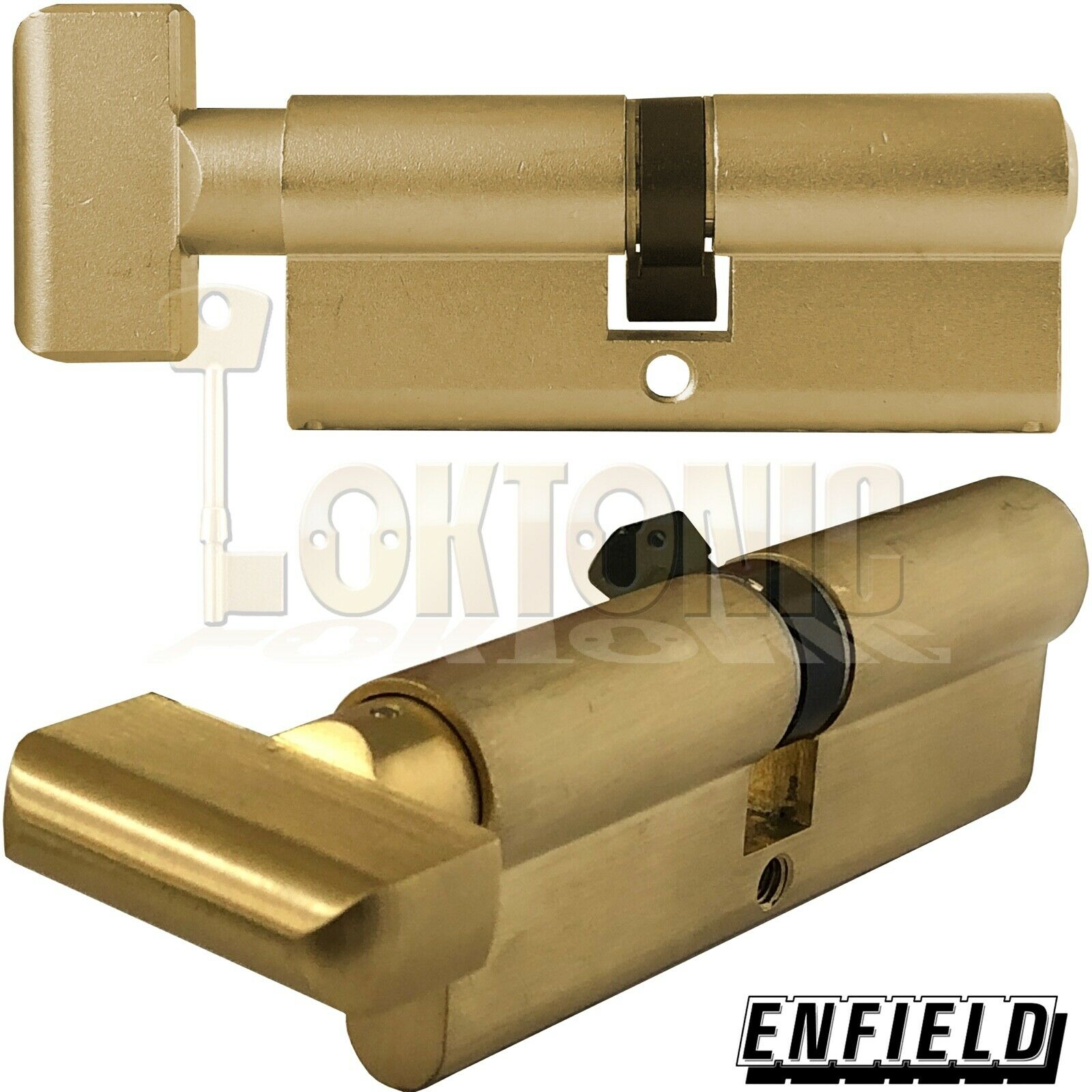 Enfield 80mm Knob Turn Euro High Security Cylinder Anti Drill Bump Locks Barrel