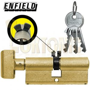 Enfield Contract 363 Turn Knob Euro Twin Y Cam Cylinder Deadlock Suit Banham