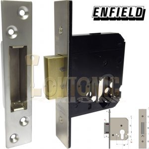 Enfield D731 Dual Profile Euro Oval Cylinder Mortice Deadlock Lock Case