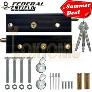 Enfield Federal Genuine Original Garage Door Bolts Lock One PAIR MK5 NEW 2020