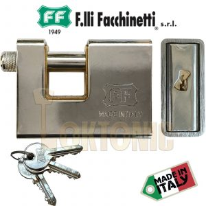 Facchinetti F8370 Fully Armoured Container Steel Roller Shutter Garage Padlock