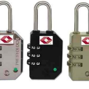 Federal 3 Dial TSA Combination Padlock Resettable Luggage Travel Suitcase Lock