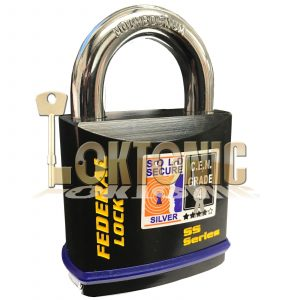 Federal FD730 Sold Secure Silver CEN 4 Super Heavy Duty Solid Steel Padlock