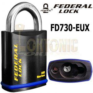 Federal FD730EUX Sold Secure Silver CEN 4 Body Padlock Suit Half Euro Cylinder