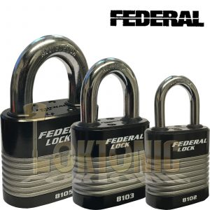 Federal High Security Rekeyable Van Shed Garage Steel Padlock FD8100 Series