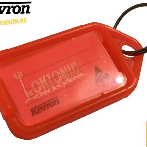 Kevron Pack 10 ID5 RED 100% Genuine Plastic Clicktag Label Key Tags Click Tag
