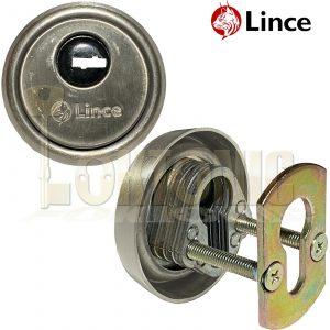 Lince Satin High Security Euro Cylinder Escutcheon Keyhole Cover Plate Van Doors