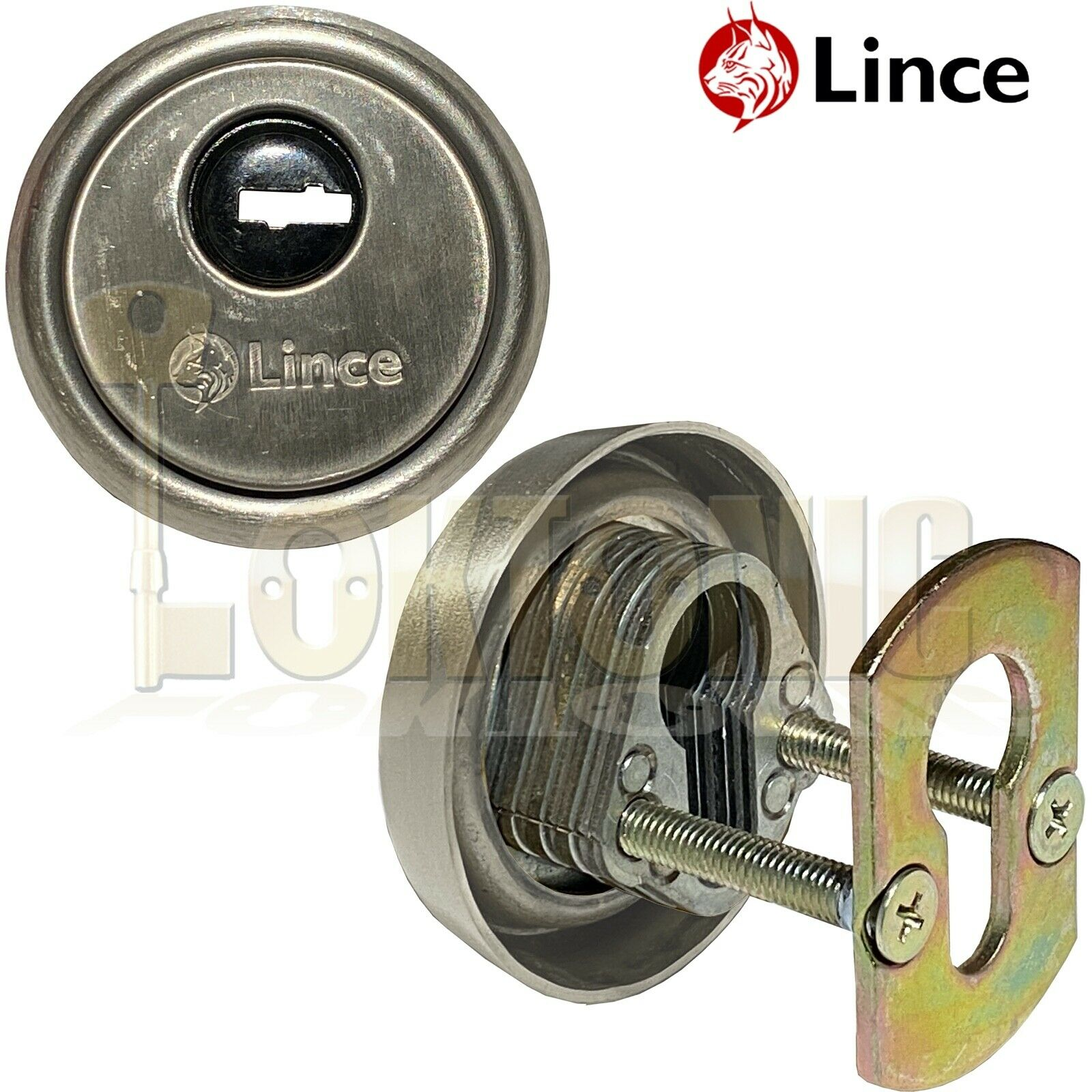 Lince Satin High Security Euro Cylinder Escutcheon Keyhole Cover Plate Van Doors