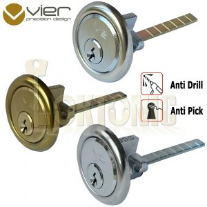 Rim Cylinder V5 Night Latch Door Lock Chrome Brass Satin Yale Type 3 Keys