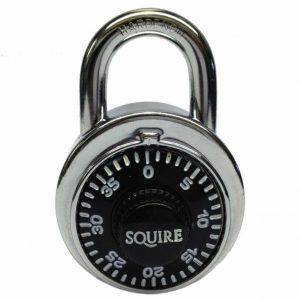 Squire Stainless Steel Fixed Dial Security Combination School Locker Padlocks