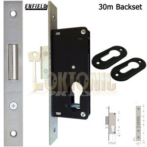 Enfield 30mm Narrow Stile Van Door Shed Gate Garage Mortice Euro Deadlock case